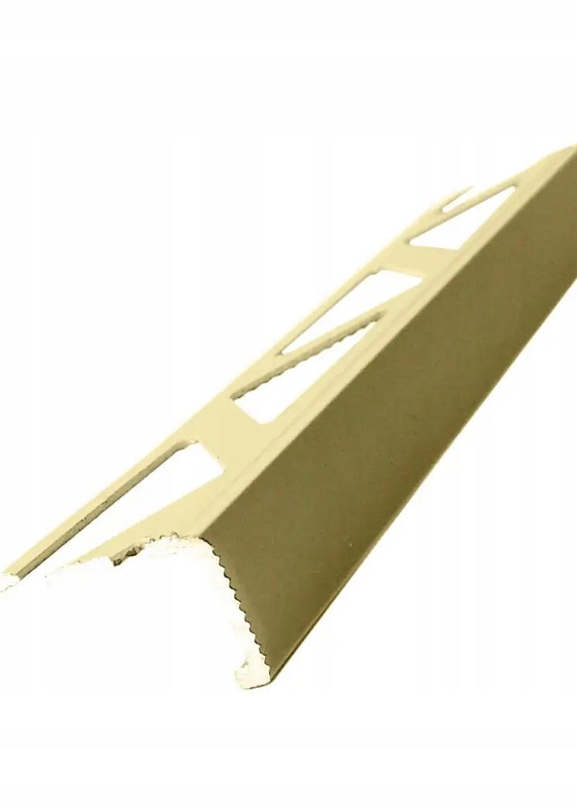 ALU уголок STRIP L8 мм мат с отделкой GOLD