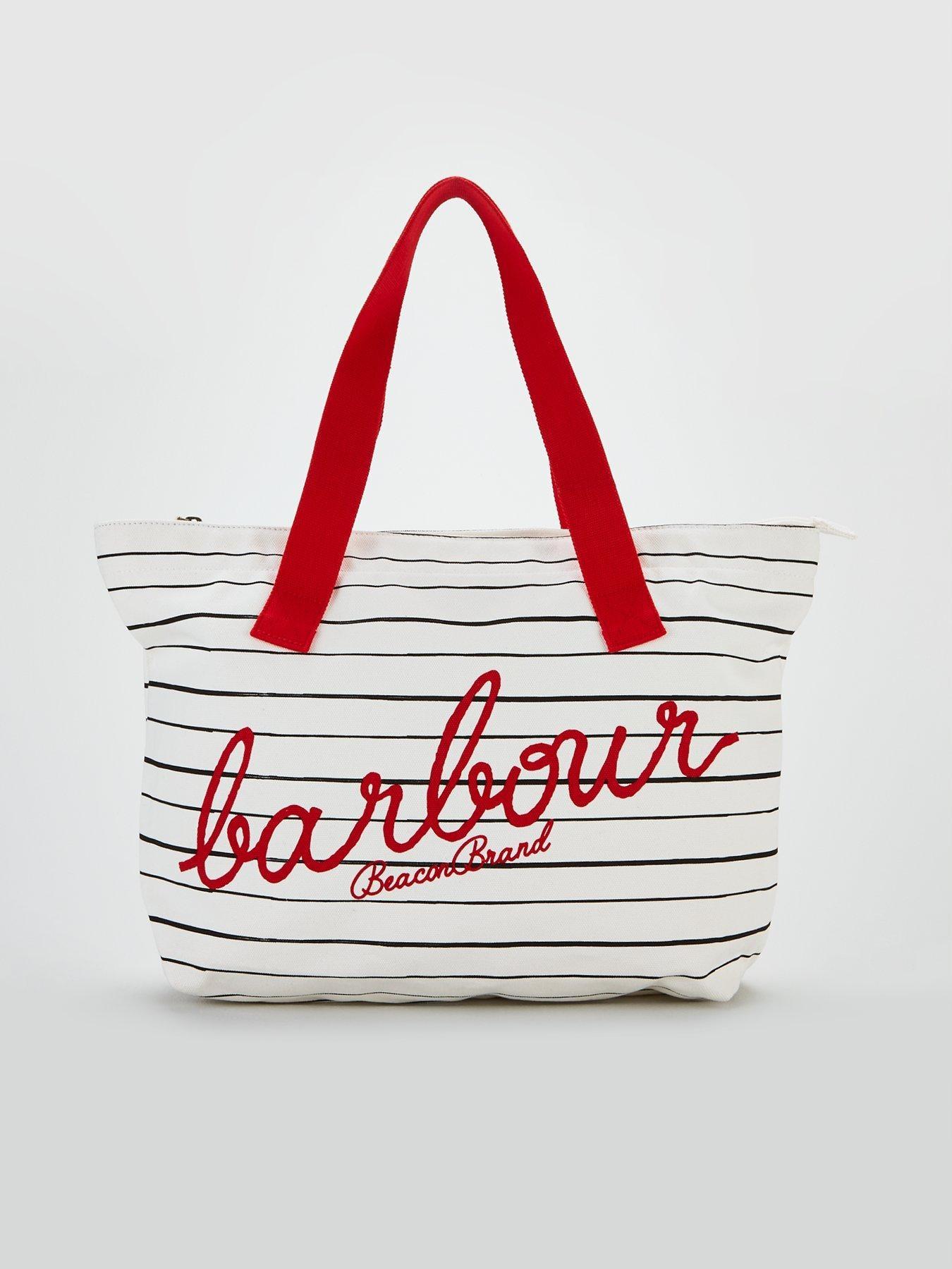 Barbour Torba Na Zakupy Shopper W Paski Z Logo__
