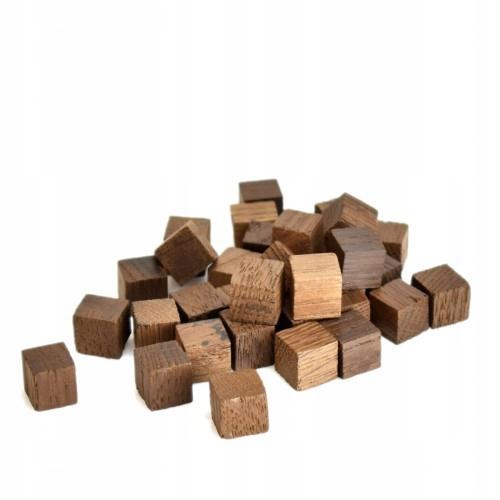 Маленькие дубовые кубики 1x1x1 HARD BAKED 50гр