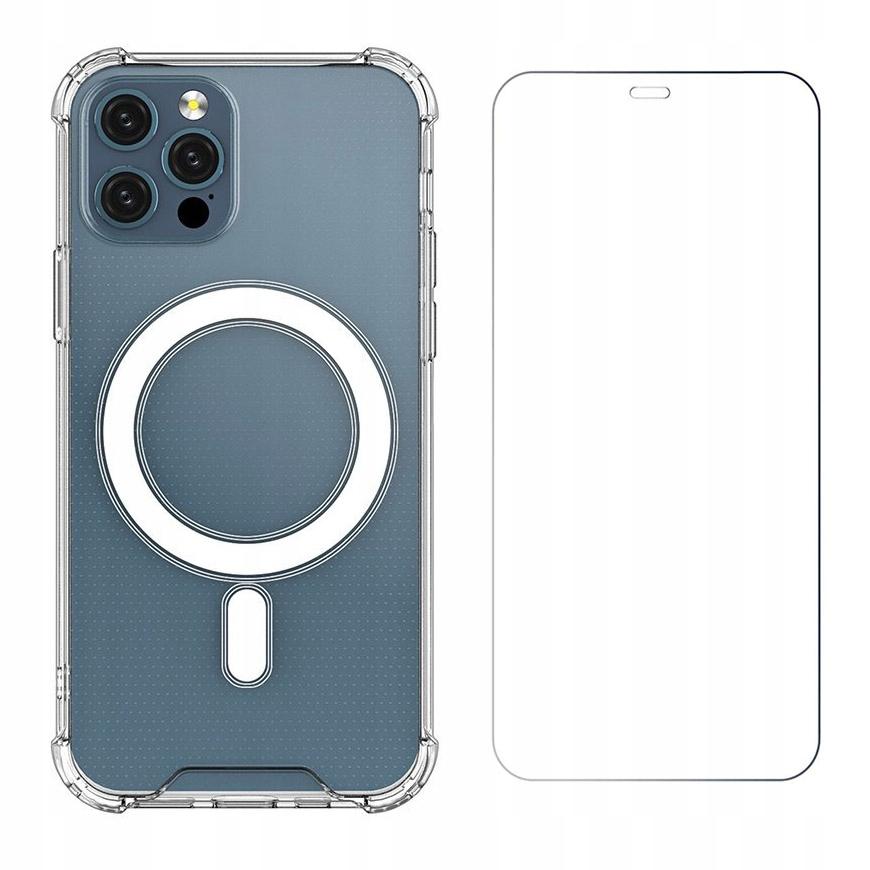 Etui Magnetic MagSafe do iPhone 12 / Pro + szkło