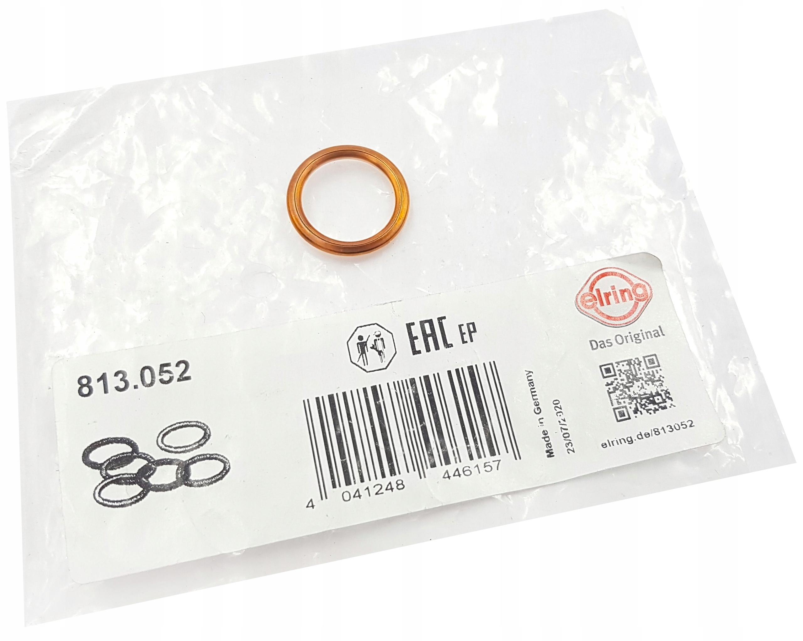 elring 1x прокладка пробки кнопки масла 813052