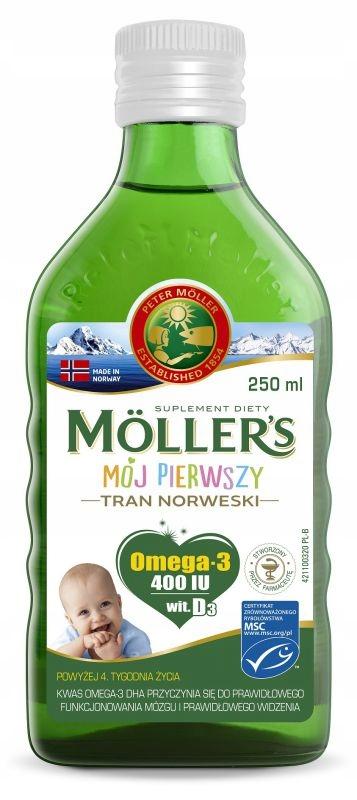 MOLLER'S MÓJ PIERWSZY TRAN NORWESKI 250ML OD 4 TYG