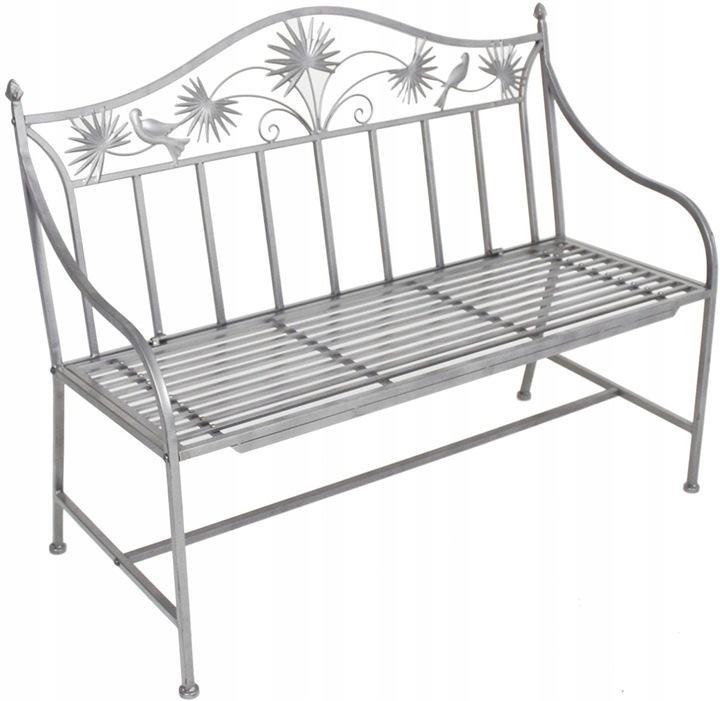 Kovová záhradná lavica ART DECO s dekoráciami *