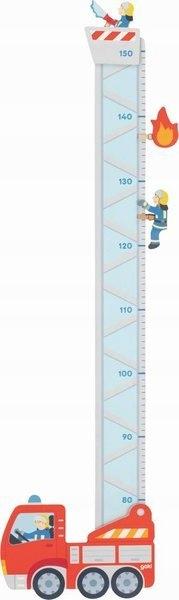 Деревянный измеритель высоты Toy Goki Пожарная часть