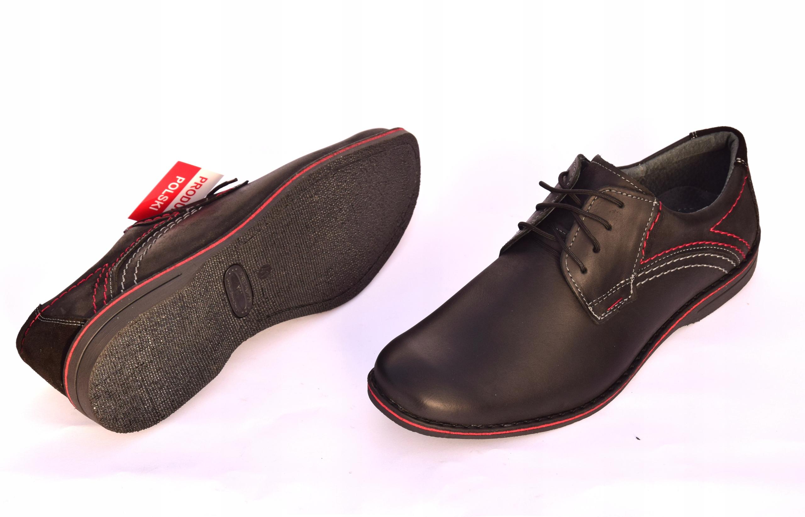 Buty męskie casual obuwie skórzane polskie 242 Materiał wkładki skóra naturalna