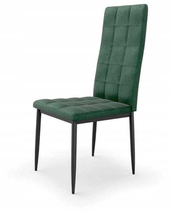 Krzesło Tapicerowane Pikowane Ciemny Zielony Welur Liczba krzeseł w zestawie 1