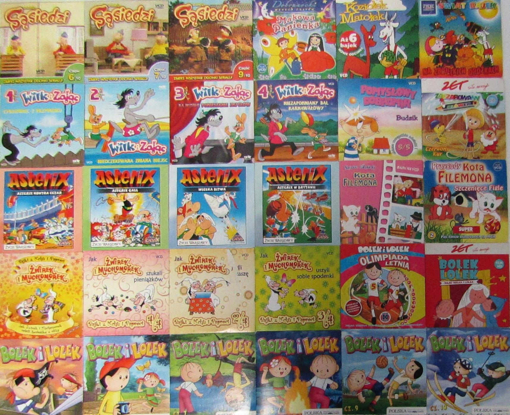 Item SET 30 DISCS VCD - CARTOONS/MOVIES FOR KIDS - EN