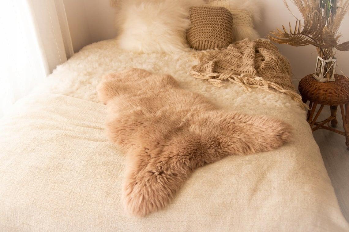 Koberec Kožené Ovce 100-110 cm pravá koža byť vzrušujúce