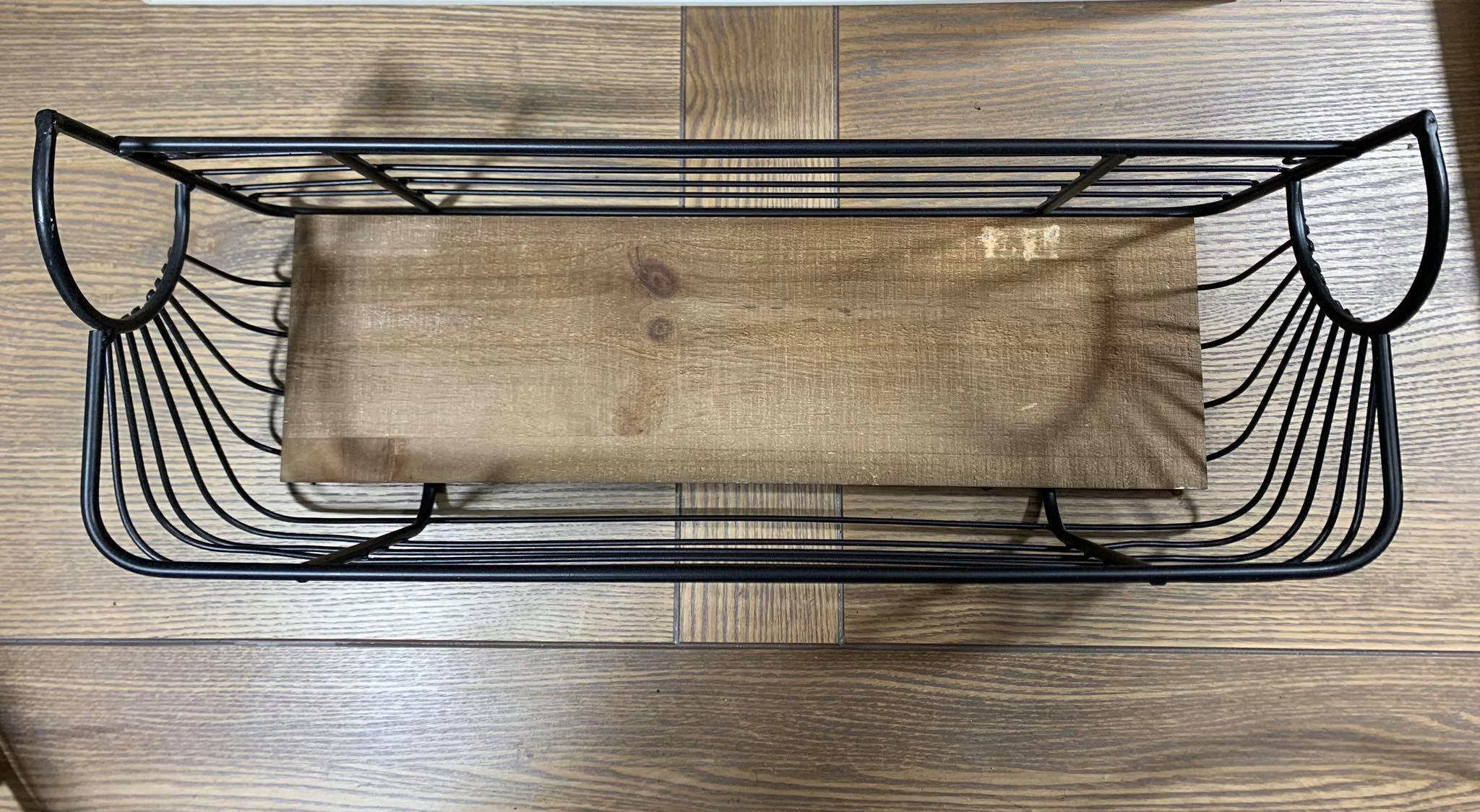 Polica kovové drevo LOFT RETRO VINTAGE kvetináč XL