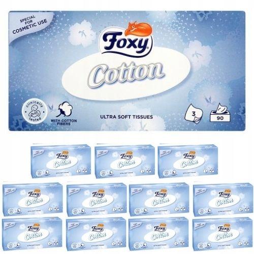Chusteczki Foxy Cotton Ultra miękkie 3 warstwy