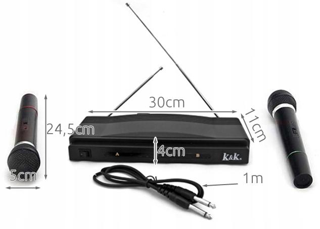 Karaoke Station + 2 trådløse mikrofoner fra Iso Trade