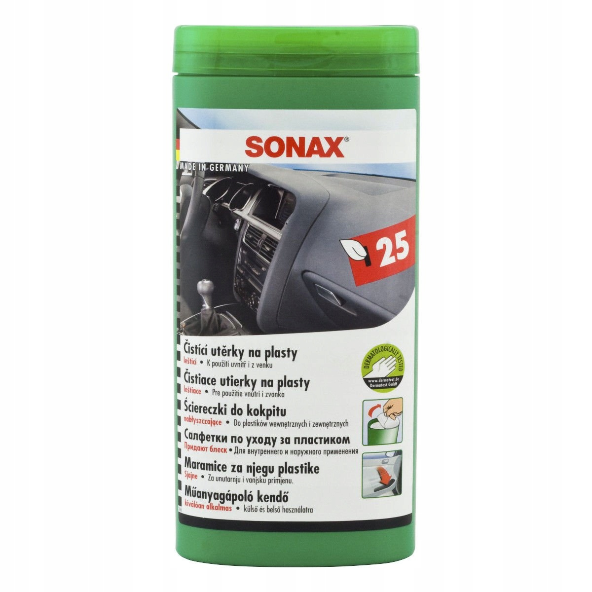 SONAX WET WIPES COCKPIT WIPES 25шт