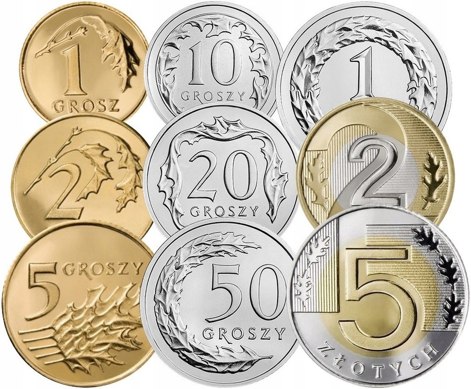 Komplet monet obiegowych 2008 r. UNC 9 sztuk