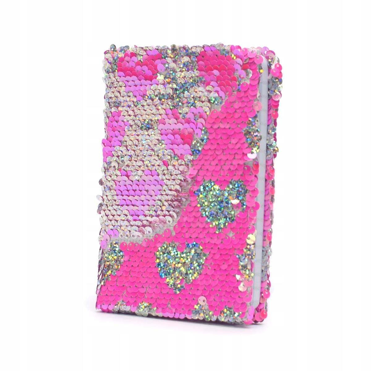 Купить НОУТБУК с пайетками PINK HEART дневник блокнот на Otpravka - цены и фото - доставка из Польши и стран Европы в Украину.