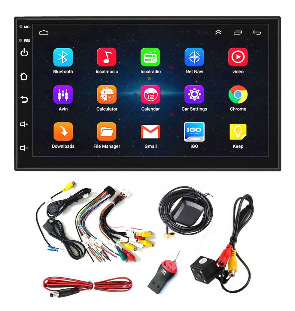 2 DIN ANDROID 9.1 АВТОРАДИО USB GPS КАМЕРА