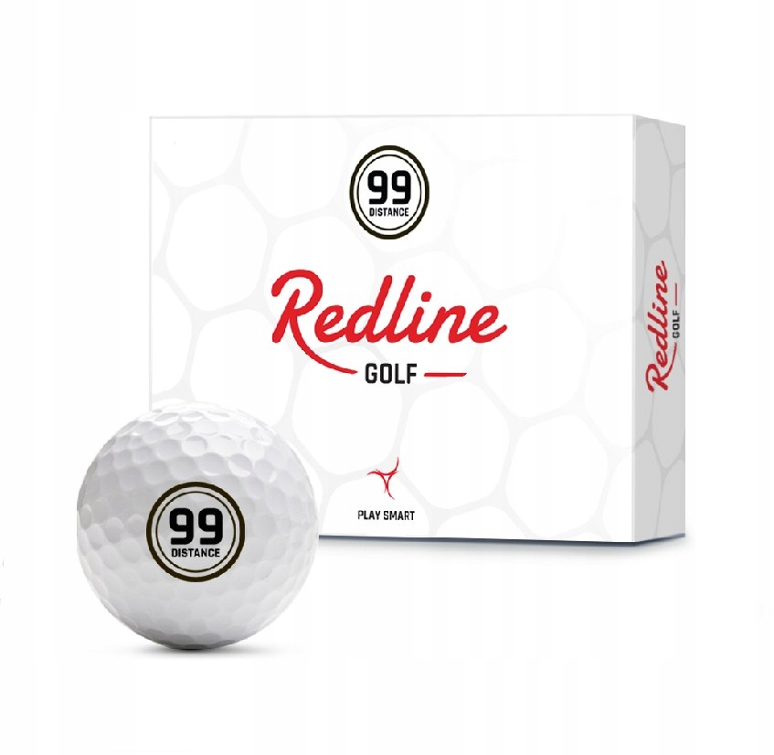 Piłki golfowe REDLINE 99 Distance (białe)