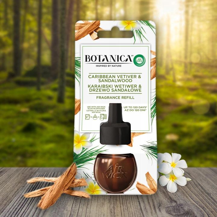 Air Wick Botanica заправка сандаловое дерево 4x19ml аромат Карибский ветивер сандаловое дерево