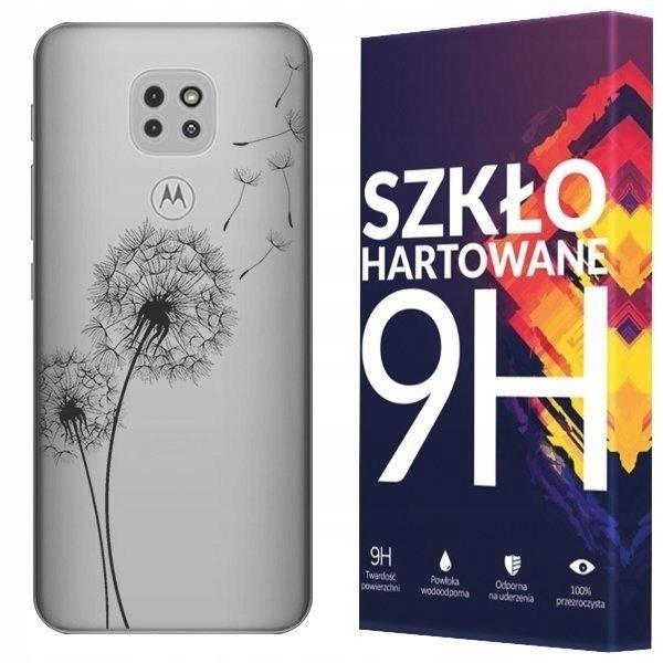 Etui Do Motorola Moto G9 Play Koronka + Szkło 9H