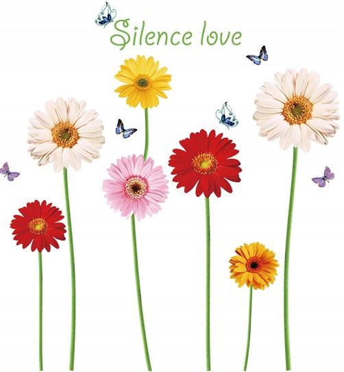 Наклейка на стену цветы подсолнуха