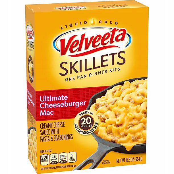 Лапша с сыром Velveeta Skillets 365г из США
