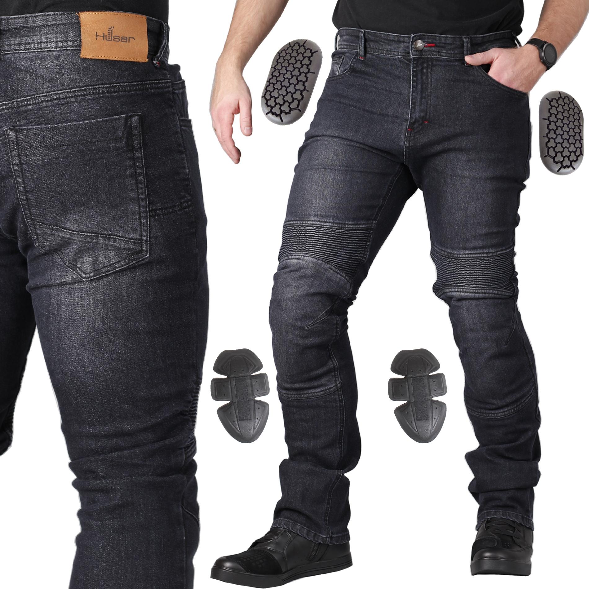 JEANSY MOTOCYKLOWE spodnie HUSAR FALCON + SAS TEC