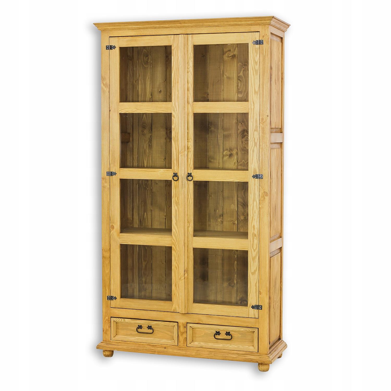 Витрина деревянная вощеная производитель VIT07