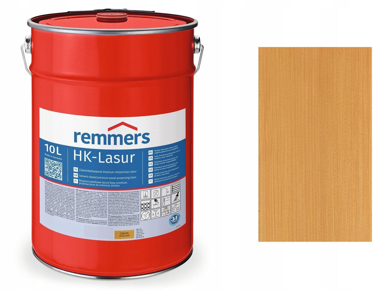 Remmers HK Lasur пропитка для дерева 10L LIGHT OAK