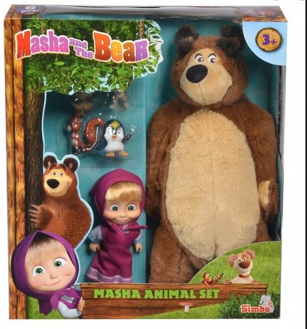 MASHA DOLL A MASCOT BEAR MISZA 2v1 SIMBA