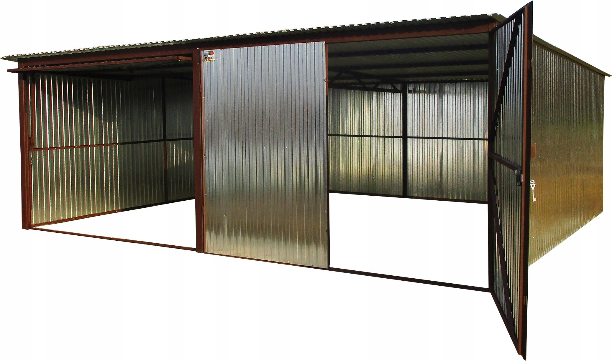 Стальные гаражи 6x5 Двойные стальные оцинкованные листы