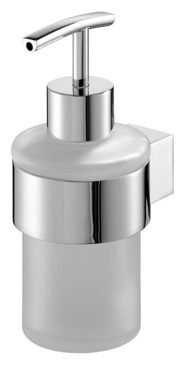 Dávkovač tekutého mydla zo skleneného chrómu
