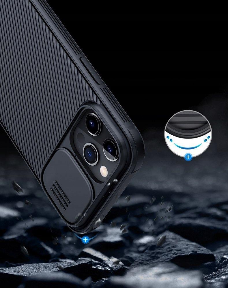 Etui Nillkin z osłoną aparatu do iPhone 12 Pro Max Materiał tworzywo sztuczne