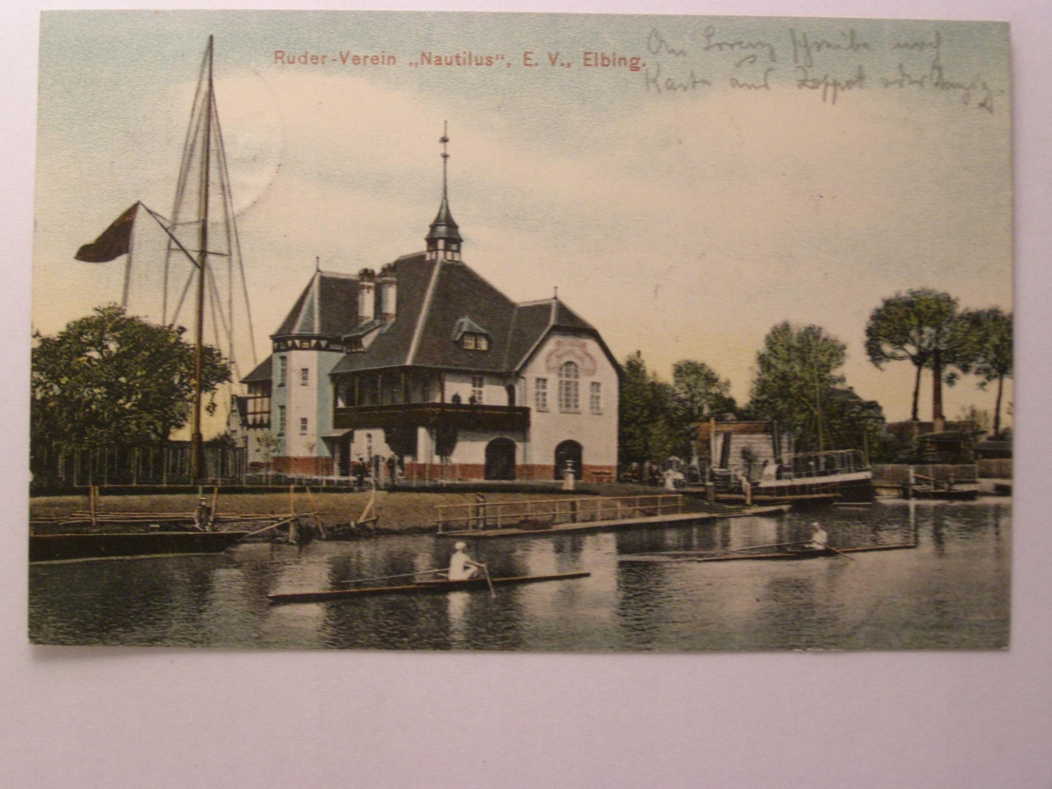 Эльблонг, Эльбинг, клуб Наутилус, гавань 1907 г.
