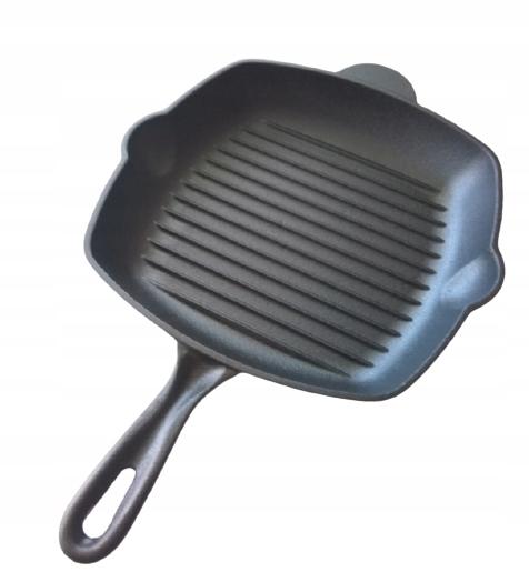 Чугунная квадратная сковорода-гриль