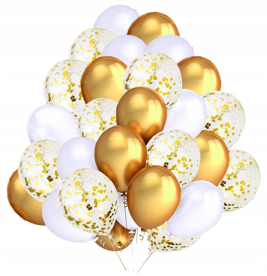 Набор воздушных шаров белого золота Confetti Actorion 30 шт.