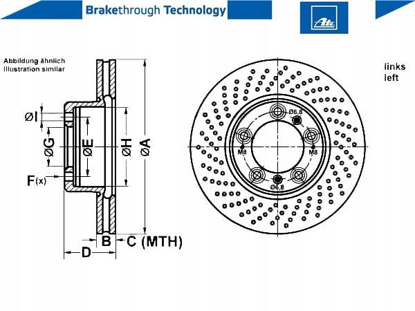 2 pièces Disque de frein UAT 24.0128-0131.1