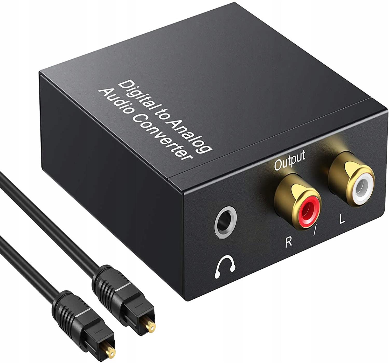 Optyczny Konwerter Coaxial Toslink RCA 2x CINCH