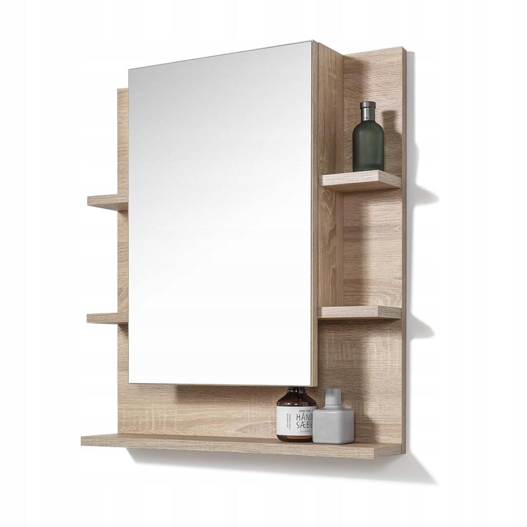 Szafka z lustrem półkami do łazienki łazienkowa