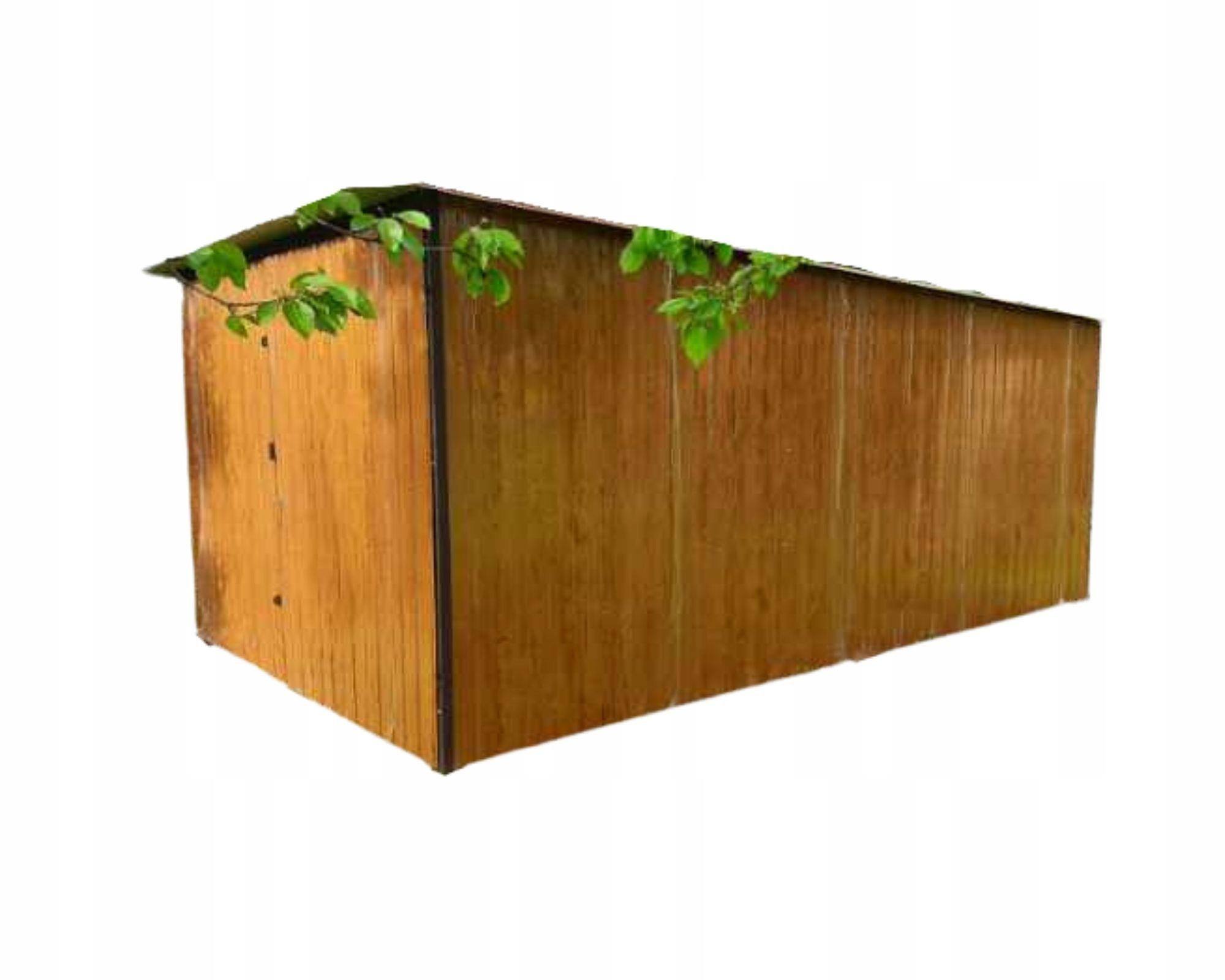 жестяные гаражи 3x5 под дерево золотистый дуб