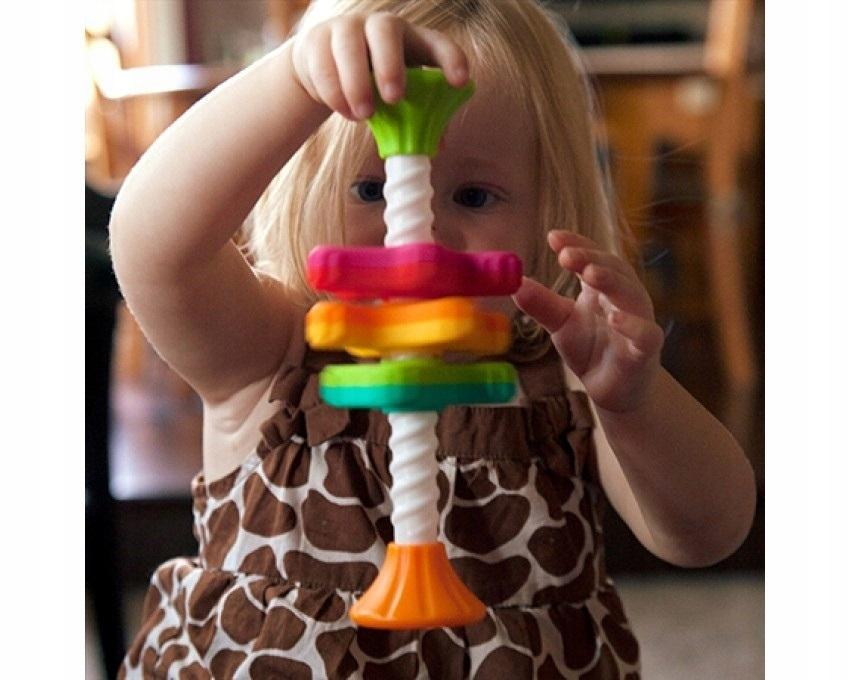 MINI SPINNY zakręcone śmigiełka wieża FatBrainToy Marka Fat Brain Toys