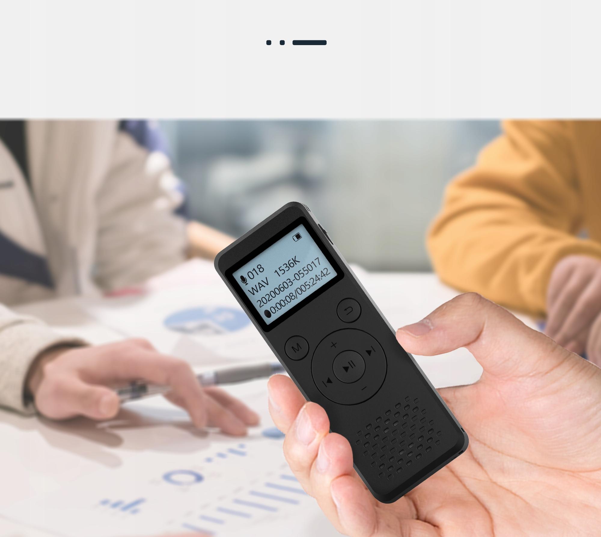 Szpiegowski Dyktafon cyfrowy1536Kbps 8GB detekcja Obsługa kart pamięci nie