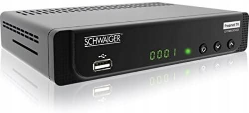Tuner Dekoder DVB-T SCHWAIGER DTR 600 USB HDMI LAN 9669369309 - Sklep internetowy AGD, RTV, telefony, laptopy - Allegro.pl