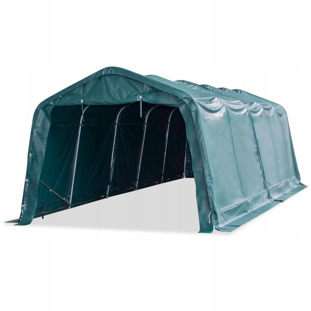 Namiot dla bydła, PVC 550 g/m², 3,3 x 8 m, ciemnoz