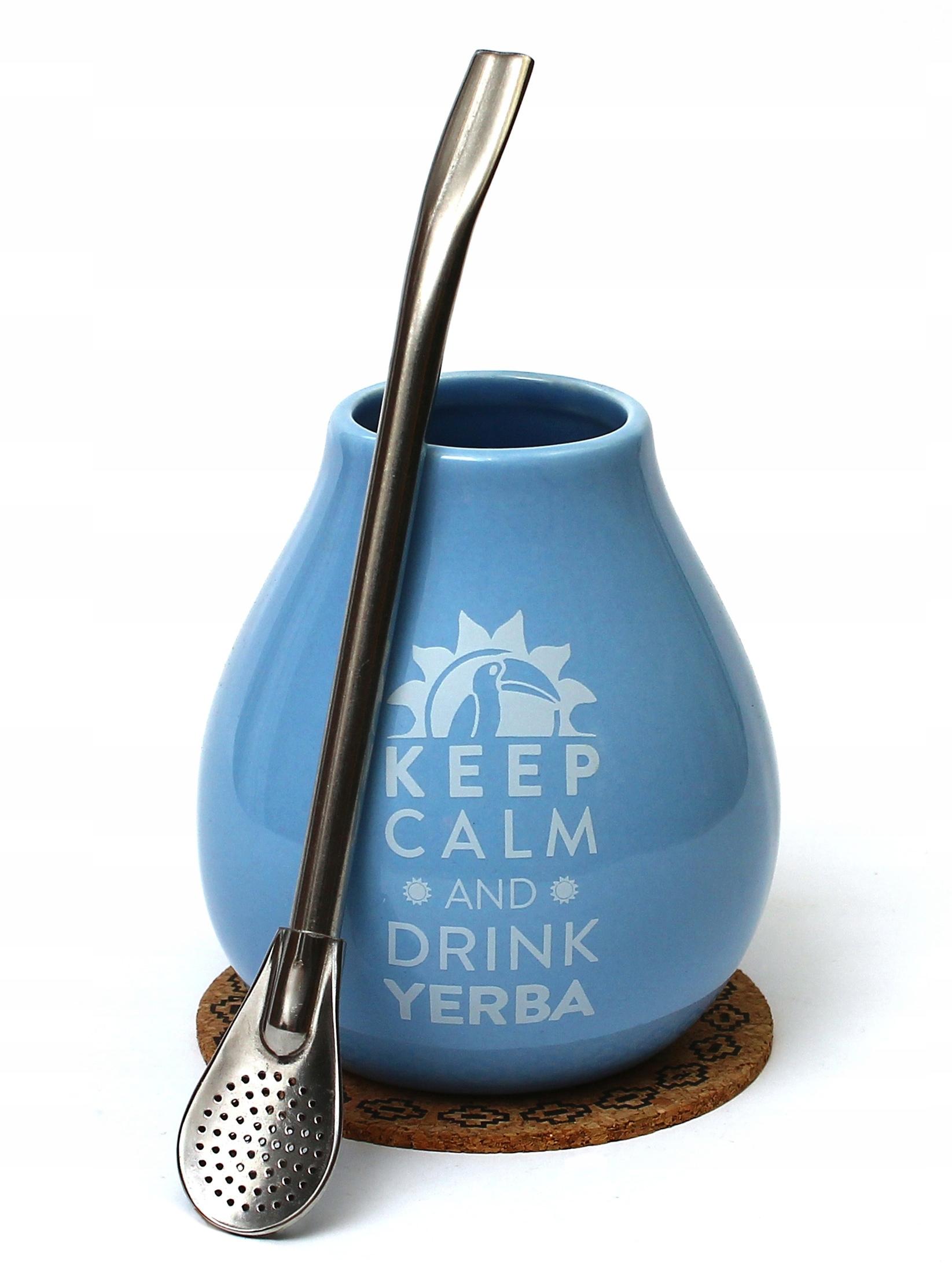 Набор кружки для Yerba Mate 350 мл + Bombilla 19 см