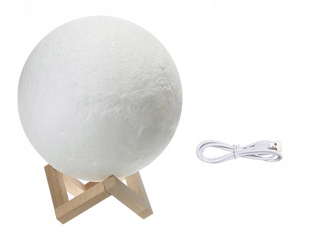 LAMPKA NOCNA ŚWIECĄCY KSIĘŻYC 3D MOON LIGHT 8cm