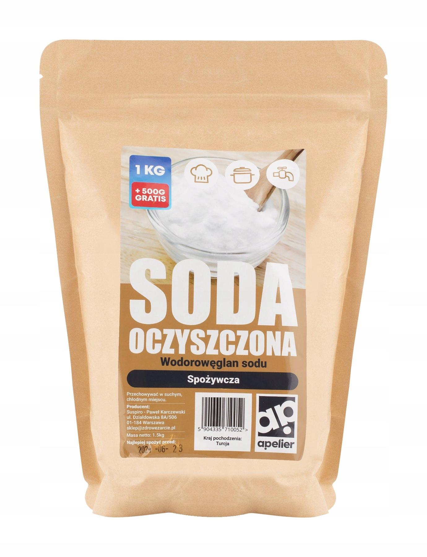 Сода пищевая 1,5 кг пищевая - Apelier