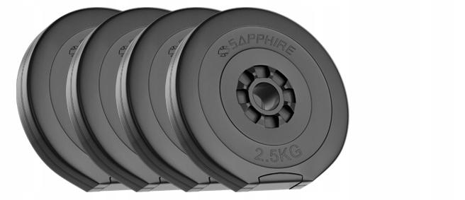 OBCIĄŻENIE 90KG zestaw (4x2,5+8x5+4x10kg) talerze Model Pakiet_90