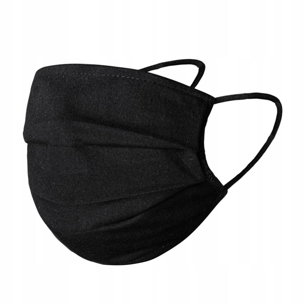 Maseczka maska wielorazowa streetwear czarna 2-war 9169191509 - Allegro.pl