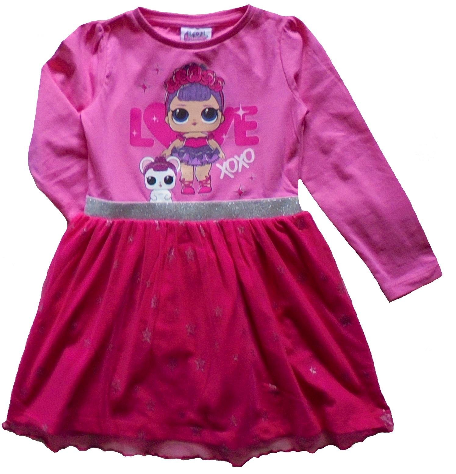 L.O.L. SURPRISE DOLLS šaty ružový tyl 134
