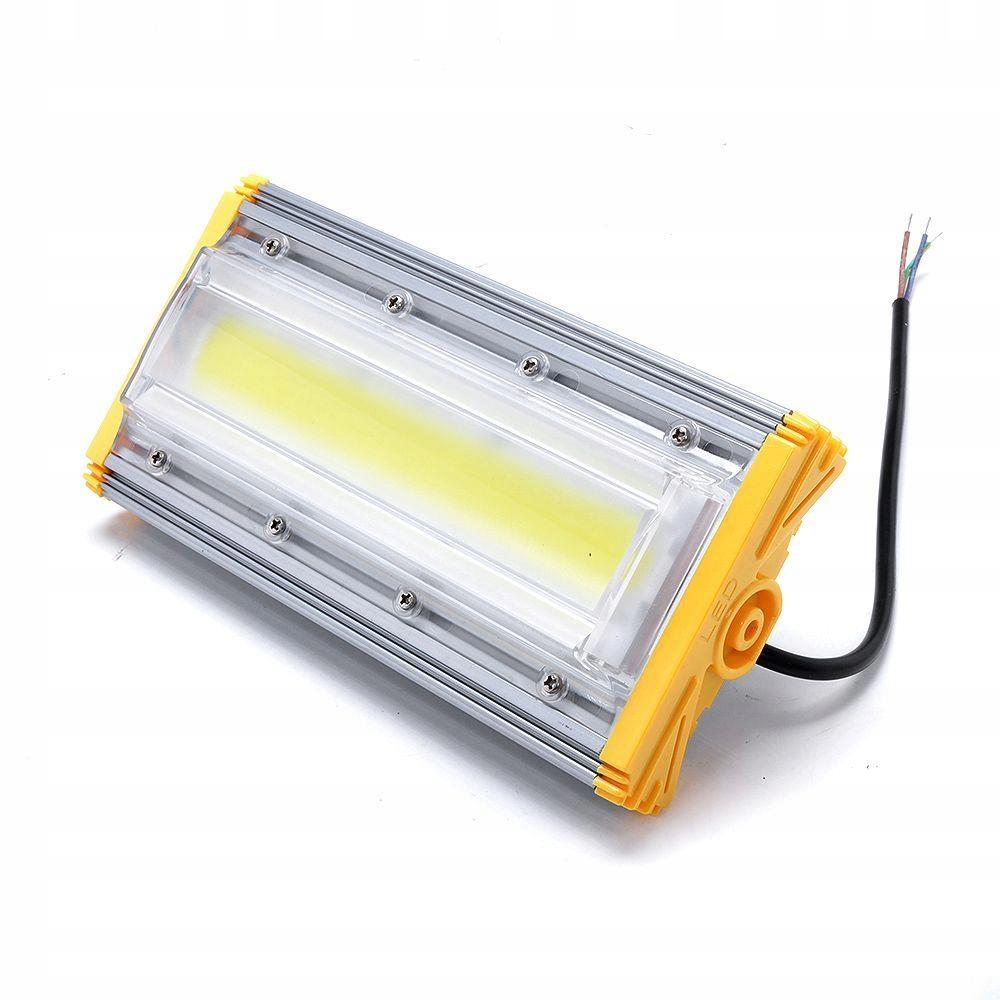 COB LED REFLEKTOR 50 W HALOGEN LINIOWY NAŚWIETLACZ Temperatura barwowa 6000 K