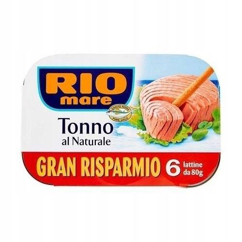 Тунец Rio mare в собственном соусе 6 x 80г